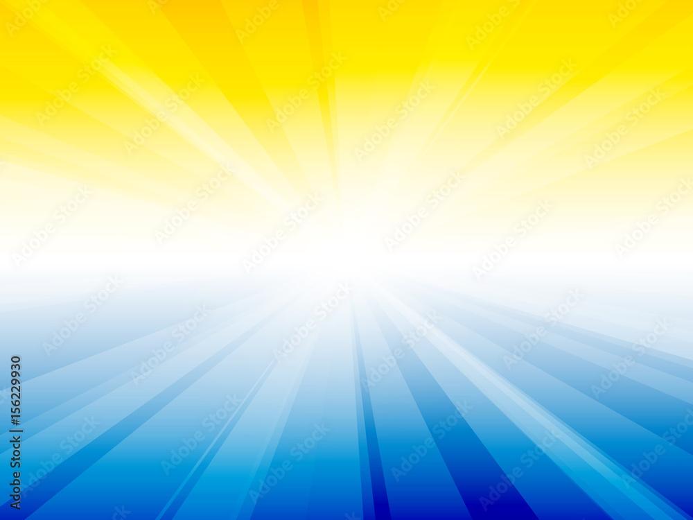 Fototapety, obrazy: yellow blue sky rays background