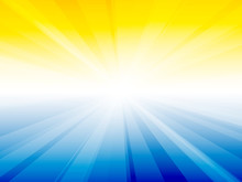 Yellow Blue Sky Rays Background