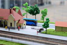 Toy Railroad Station Model