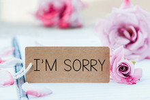 Writing Sorry On Card