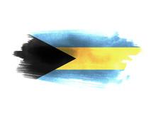 Bahamas Flag Grunge Painted Background