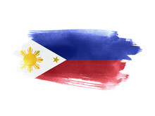 Philippines Flag Grunge Painted Background