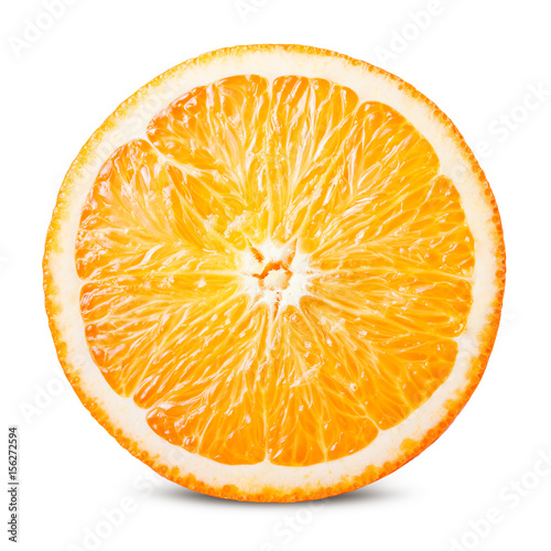 Foto op Aluminium Vruchten Orange fruit. Round orange slice isolated on white background. With clipping path.