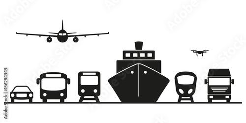 Cuadros en Lienzo Transportmittel