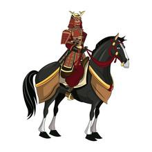 Warrior Samurai With Armor Tra...