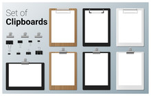 Set Of Realistic Clipboards , ...