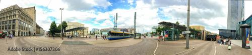 LEIPZIG, GERMANY - JULY 2016: Tourists visit city center фототапет