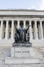 Alma Mater Statue In Front Of The Library Of Columbia University In Upper Manhattan, New York City - USA