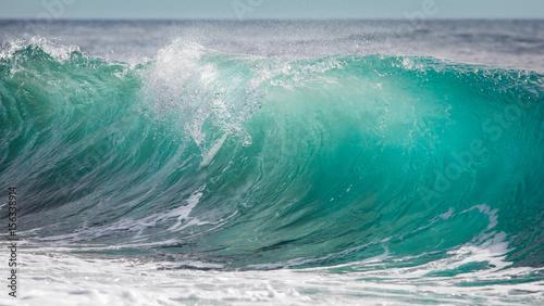 Stickers pour porte Eau Big turquoise blue wave