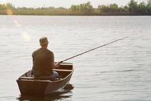 Fisherman Fishing-man Catching Fish.