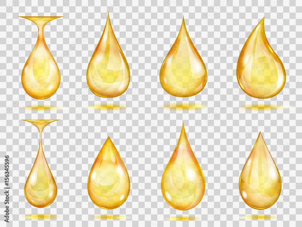 Fototapety, obrazy: Transparent yellow drops