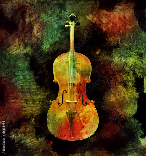 Ingelijste posters Surrealisme Colorful Cello