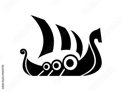 Fotografie, Obraz  Drakkar sign. Viking transport ship