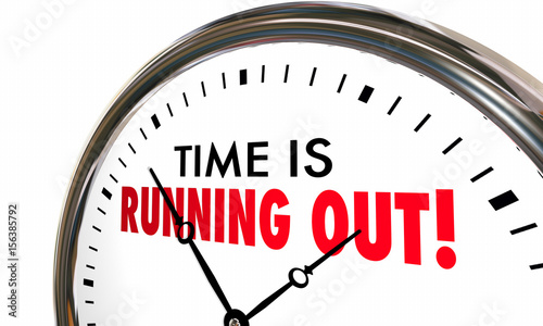 Time is Running Out Clock Deadline Ending Soon 3d Illustration