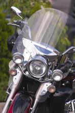 Stylish Classic Motorcycle Wit...