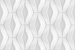 canvas print picture - White curved lines background. Concrete decorative tile. 3D rendering design. Seamless texture .