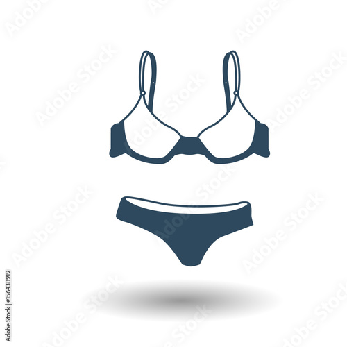 334240ec37c Flat bikini web icon vector - Buy this stock vector and explore ...