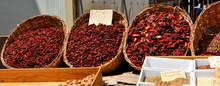Chiles And Various Spices, Market Of Ortigia, Syracuse