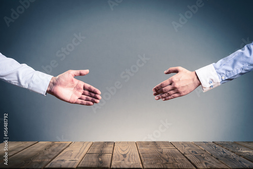 Fotografiet  ビジネスマンの握手