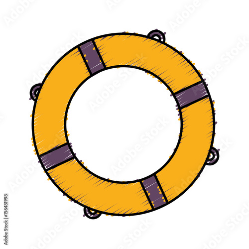 ee61f8ca28f9 safety float icon over white background. colorful design. vector  illustration