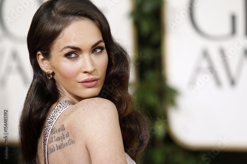 7a377ea60 Actress Megan Fox arrives at the 68th annual Golden Globe Awards in Beverly  Hills