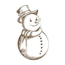 Christmas Snowman Vintage Deco...
