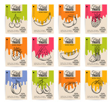 Vector Hand Drawn Fruits Posters
