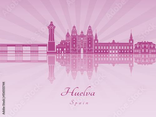 Huelva skyline in purple radiant orchid