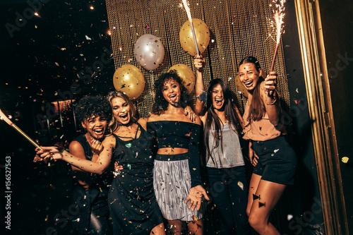 Girls in the nightclub having a great time