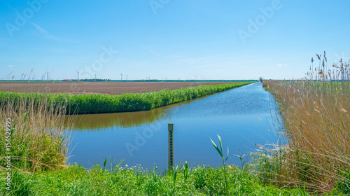 Recess Fitting Channel Canal through the countryside in spring