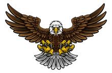 Bald American Eagle Mascot