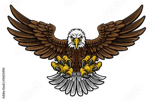 Fototapeta premium Maskotka Bald American Eagle