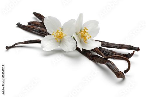 Door stickers Aromatische Vanilla sticks with flowers