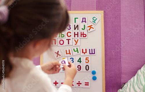 Fotografie, Obraz  Learning Cyrillic Letters