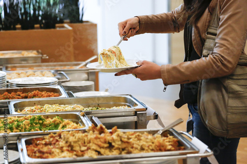 Fotografie, Tablou  Buffet bei Business Veranstaltung