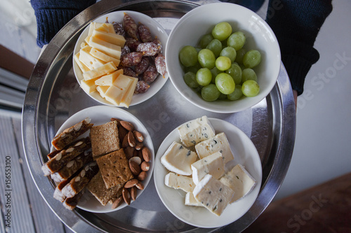 plate with healthy snacks