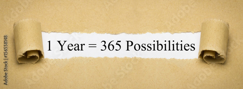 1 Year = 365 Possibilities Canvas-taulu