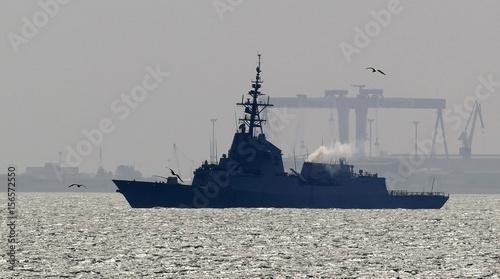 spanish navy frigate mendez nunez arrives to the naval base port of