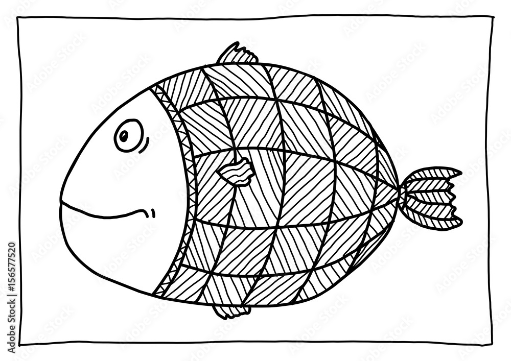 ausmalbild fisch  kinder ausmalbilder