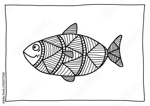 ausmalbild fisch  kaufen sie diese illustration und