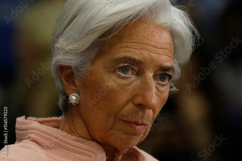 IMF Managing Director Christine Lagarde participates in an
