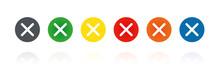 Kreuz - Farbige Buttons