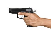 A Hand With Handgun Single Left Hand