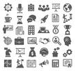 Leinwanddruck Bild - Business icons. Management, marketing, career
