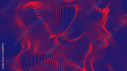 Photo  abstract illuminated duo tone plexus background