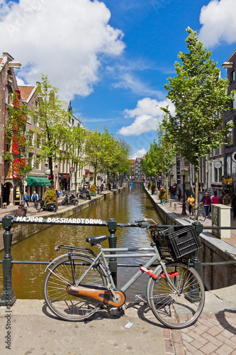 Fototapety, obrazy: Red Light District in Amsterdam, Netherlands