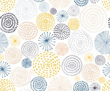Vector Seamless Pattern With I...