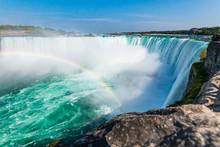 Incredible View Of Niagara Falls Rainbow, Ontario, Canada