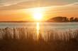 canvas print picture - Sonnenuntergang in der Boddenlandschaft der Ostsee