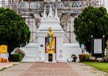 Buddha Statue At Wat PraThat ThaUthen , Nakhonphanom Thailand.